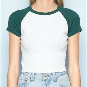 forest green and gray bella top